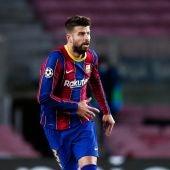 Gerard Piqué, con el Barça
