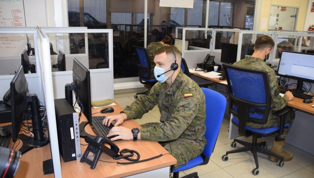 Coronavirus.- Un total de 30 militares se suman este lunes a labores de rastreo contra la COVID en Baleares
