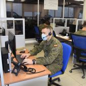 Un grupo de militares colaboran en las labores de rastreo contra la COVID en Baleares