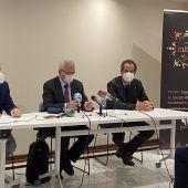 Rueda de prensa de la Asociación de Hoteles de Sevilla y Provincia para informar de la situación del sector.