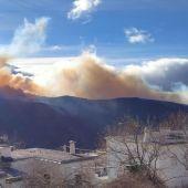 El incendio en la Alpujarra visto desde Pitres