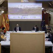 Reunión del Gobierno de Aragón con representantes de las comarcas ligadas al turismo de la nieve