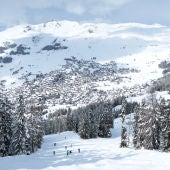 Esquiadores en Verbier, Suiza