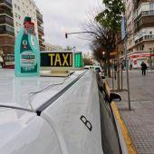 Un taxi, en Cádiz