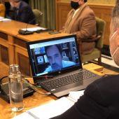 César Sánchez ha intervenido de manera telemática por las limitaciones COVID-19