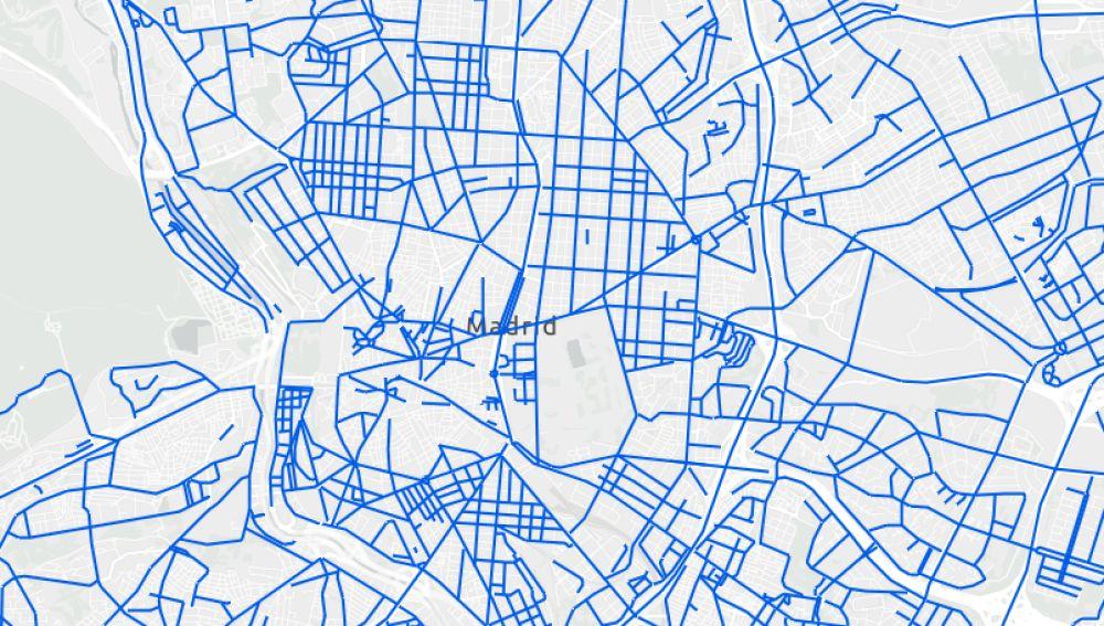 Mapa actualizado de calles cortadas por la nieve en Madrid y calles limpias hoy jueves en tiempo real