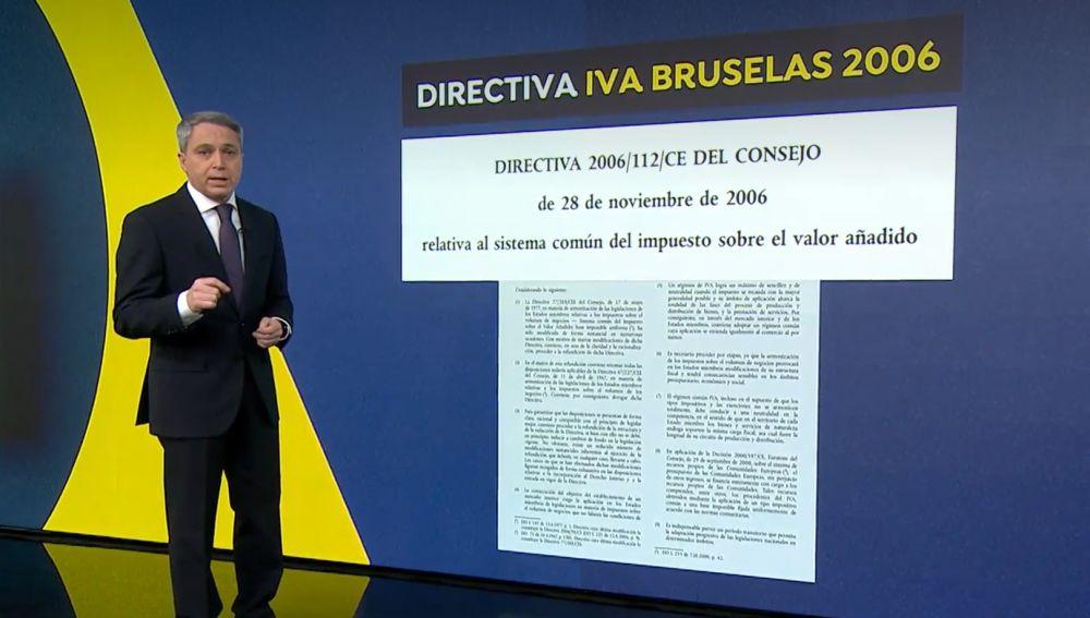 Vicente Vallés desmonta las palabras del Gobierno sobre el IVA de la luz con un documento exclusivo