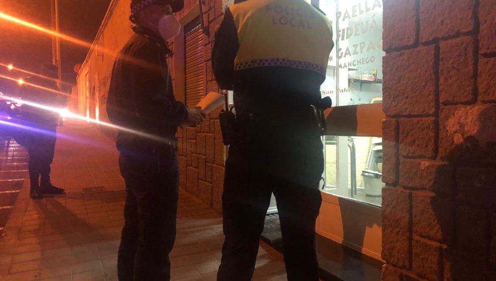 Intervención policial en un bar