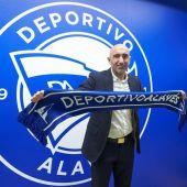 El entrenador del Deportivo Alavés, Abelardo Fernández.