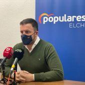 Pablo Ruz solicita al gobierno municipal la creación de una partida presupuestaria para ayudar al sector de La Palma Blanca.