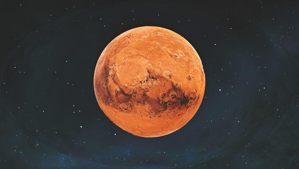 Imagen de satélite del planeta Marte