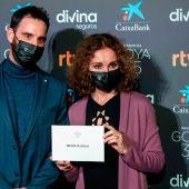 Ana Belén y Dani Rovira anunciando los nominados a los Premios Goya