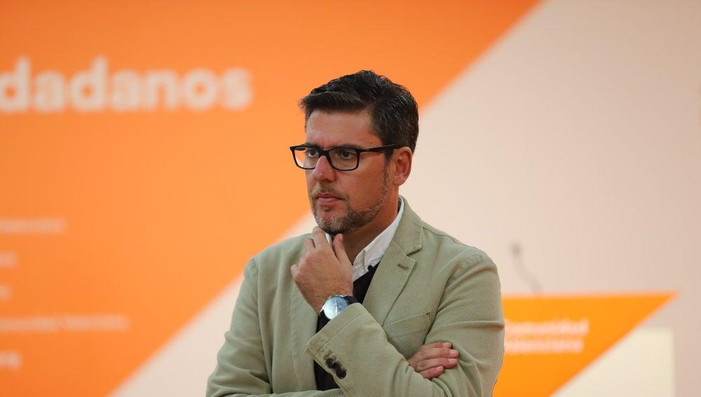 Javier Gutiérrez, portavoz de Ciudadanos en la Diputación