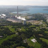 Vista aérea de la central de As Pontes