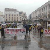 La concentración ha tenido lugar en la Plaza Mayor