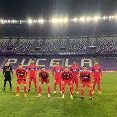 Alineación titular del Elche CF en el encuentro ante el Real Valladolid, en el estadio José Zorrilla.