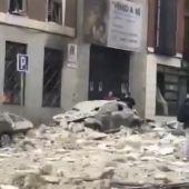 Aspecto de la calle Toledo nada más ocurrir el suceso