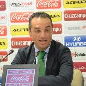 José Luis Oltra en su presentación con el Córdoba CF