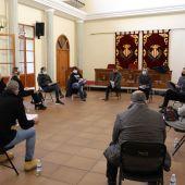 Imatge de la reunió dels hostalers amb l´alcalde José Benlloch