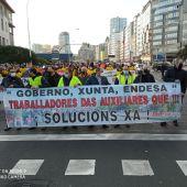 Protesta de los trabajadores de Endesa y Gamesa