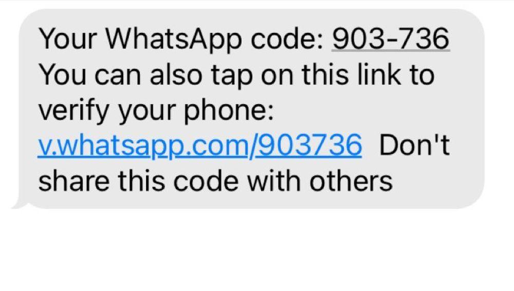 SMS con el que nos intentan engañar para que enviemos nuestro código