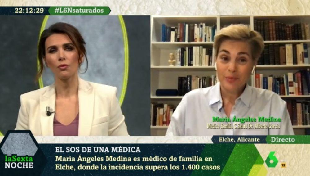 Entrevista en 'LaSexta Noche' a María Ángeles Medina.