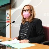 La consejera Mayte Pérez, en la rueda de prensa posterior al Consejo de Gobierno
