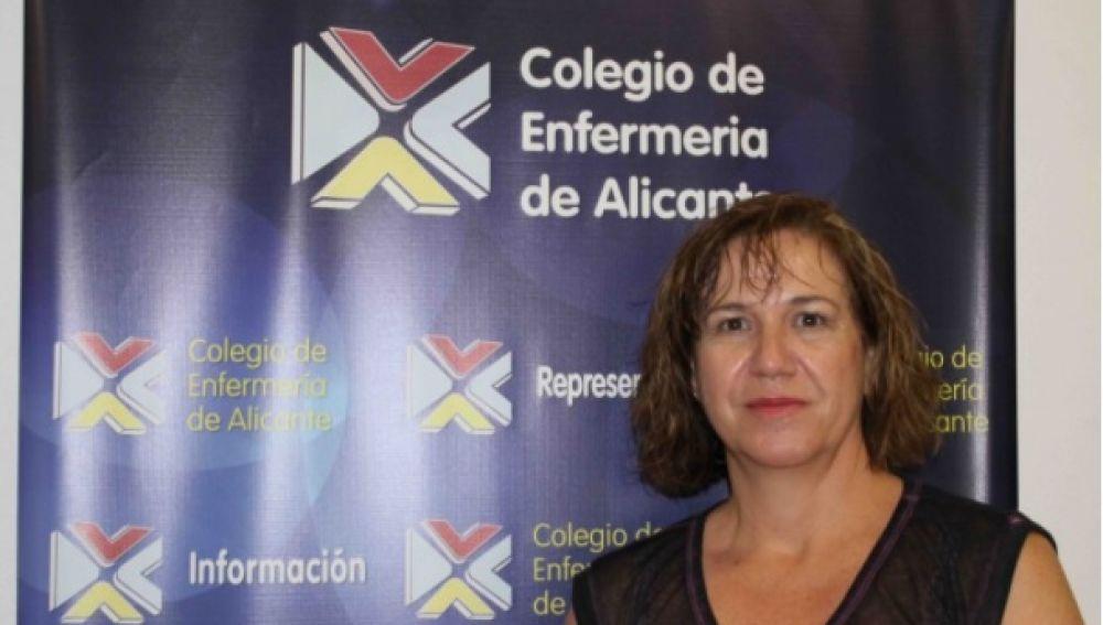 Montserrat Angulo, presidenta del Colegio de Enfermería de Alicante
