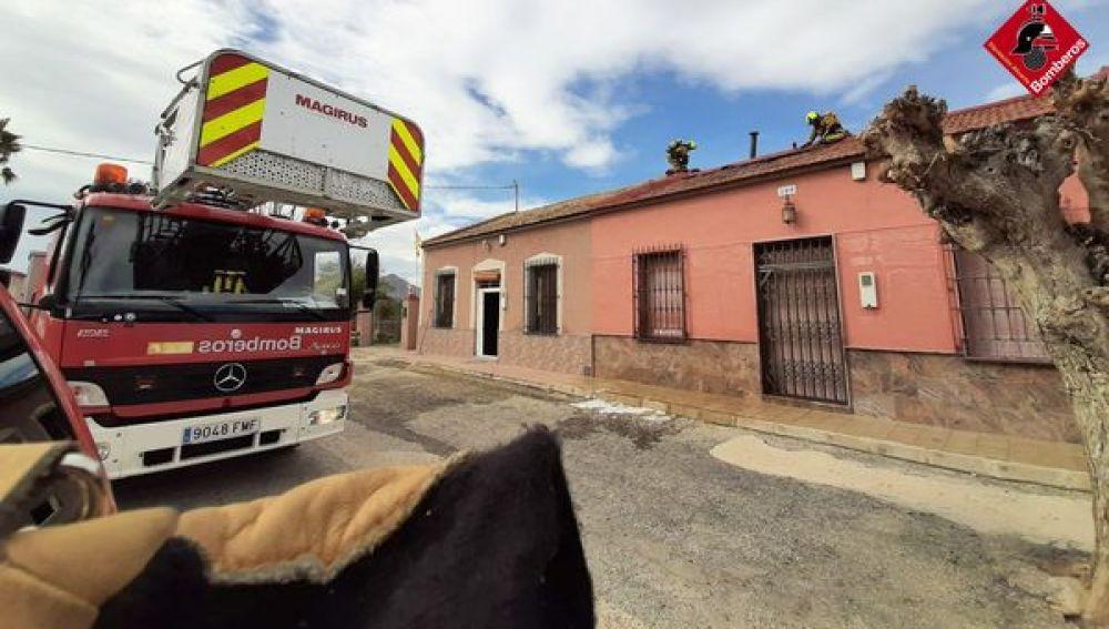 Incendio en una vivienda de Catral