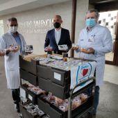Acto de entrega en el Hospital General Universitario de Elche.