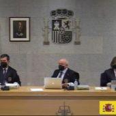 El tribunal suspende el juicio de la caja 'b' del PP por el positivo en Covid-19 de un acusado