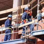 Trabajadores en una obra de la construcción