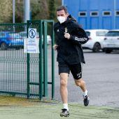 José Ángel Ziganda regresó esta mañana a los entrenamientos tras superar el COVID19