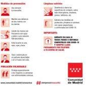 Cartel medidas Covid-19 Comunidad de Madrid