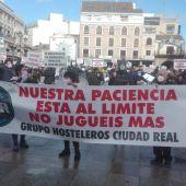 Concentración de los hosteleros en Ciudad Real