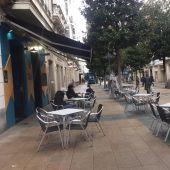 Imagen de archivo de la terraza de un bar