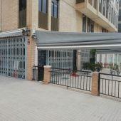 Cafetería cerrada en Elche con motivo de las restricciones por la covid-19.