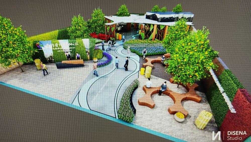 Maqueta del pabellón de Orihuela para la Expo de Shanghái