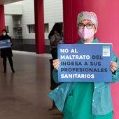 Protestas del sindicato médico de Ceuta.