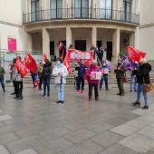 Concentración de UGT y CCOO en Ciudad Real