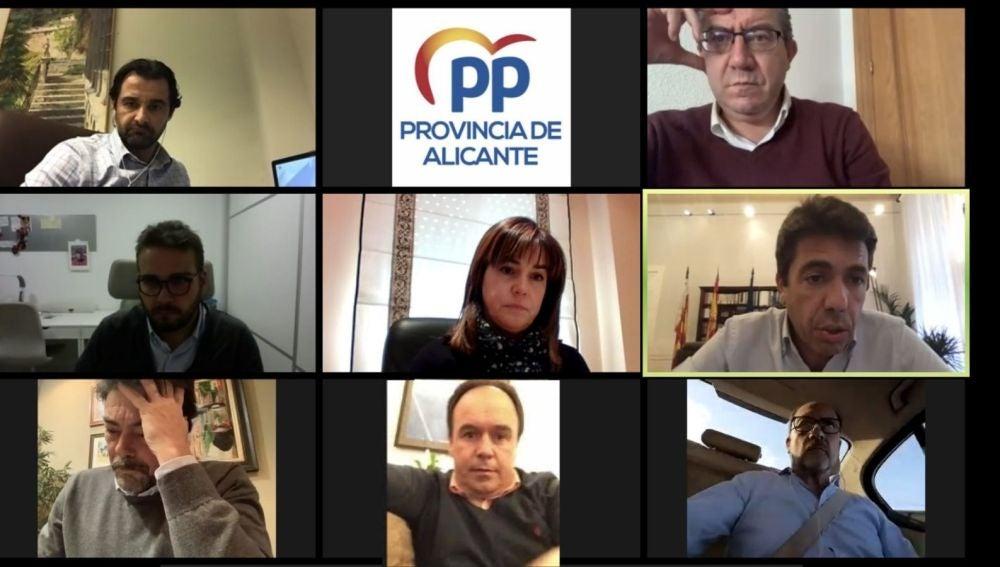 Carlos Mazón, reunido con alcaldes del PP