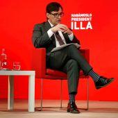 El candidato del PSC a la Generalitat, Salvador Illa