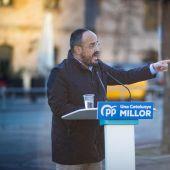 Acto electoral del candidato del PPC a las elecciones en Cataluña, Alejandro Fernández