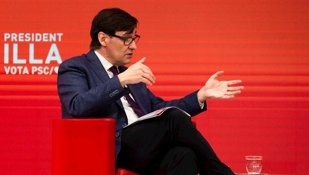 El candidato del PSC a las elecciones catalanas, Salvador Illa
