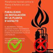 Plataforma contra la Plata de Asfalto de Llera
