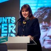 La candidata a la presidencia de la Generalitat por JxCat, Laura Borràs.