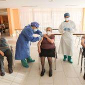 Vacunación en la residencia Javalambre de Teruel