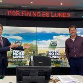 Matías Prats en el estudio de Onda Cero con Jaime Cantizano