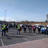 Concentración de comerciantes de mercadillos ambulantes en Alcalá de Henares