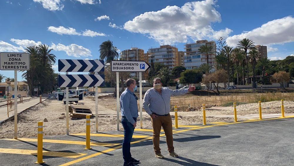 Finalización de las obras de rehabilitación del paseo de La Glea en Orihuela Costa